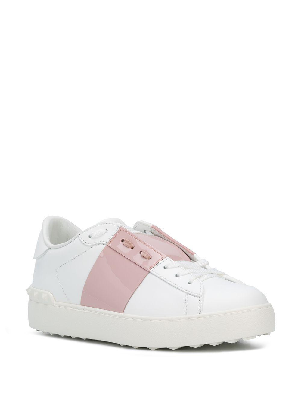 Valentino Garavani Leather White \u0026 Pink