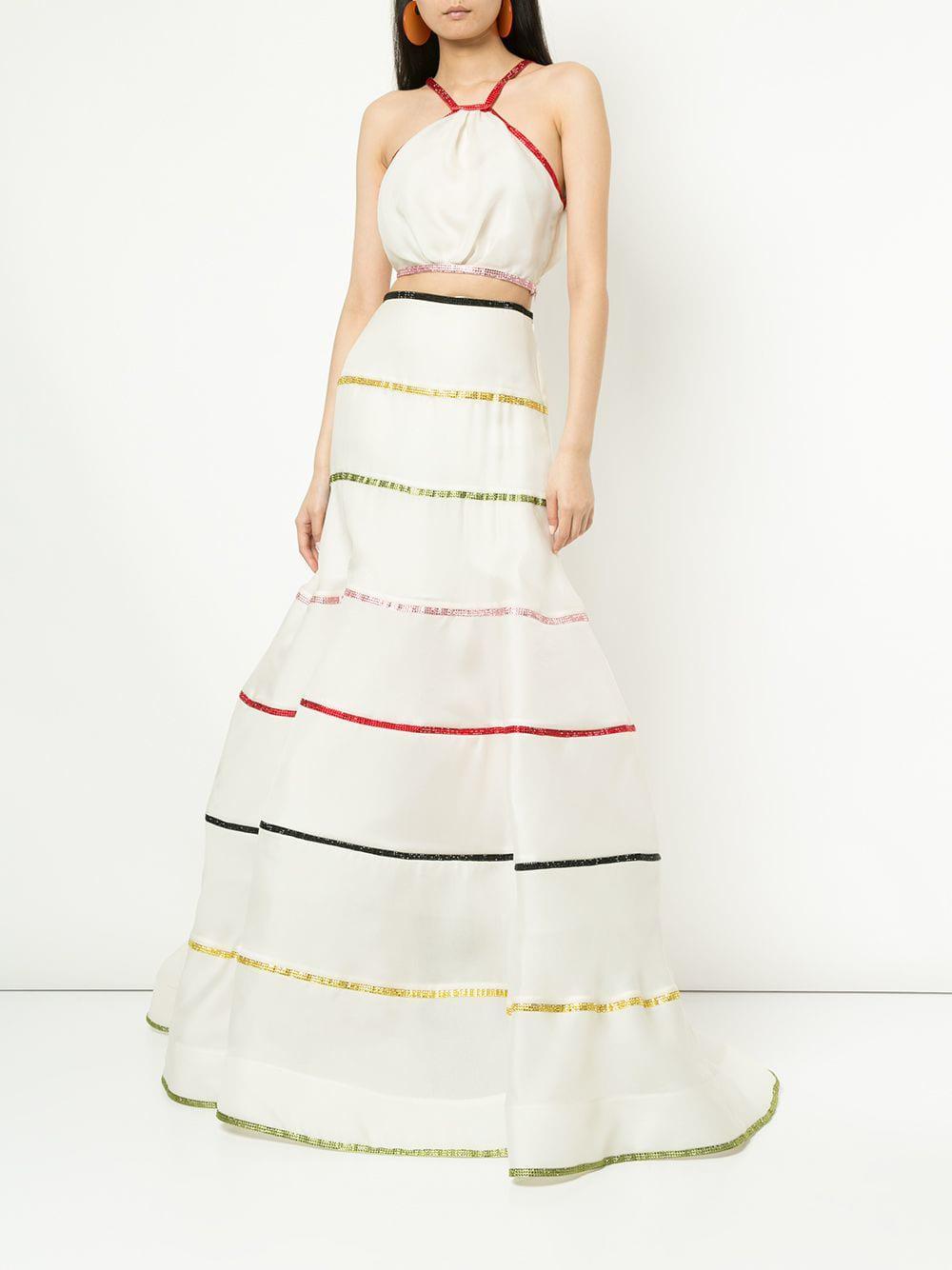 Conjunto abombado a rayas Rosie Assoulin de color Blanco