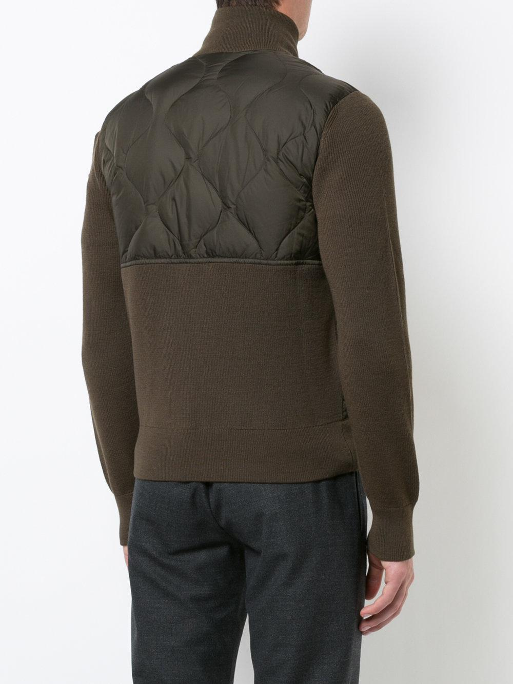Moncler Wool Stephan Quilted Jacket in Green for Men