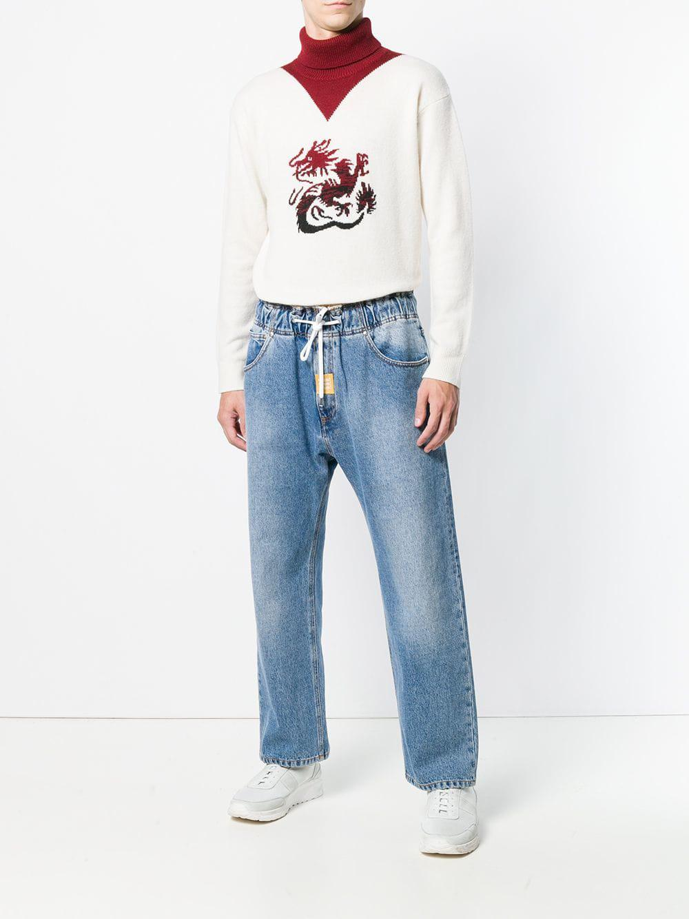 5cdd3988a97 Lyst - MSGM Wide-leg Jeans in Blue for Men - Save 12%