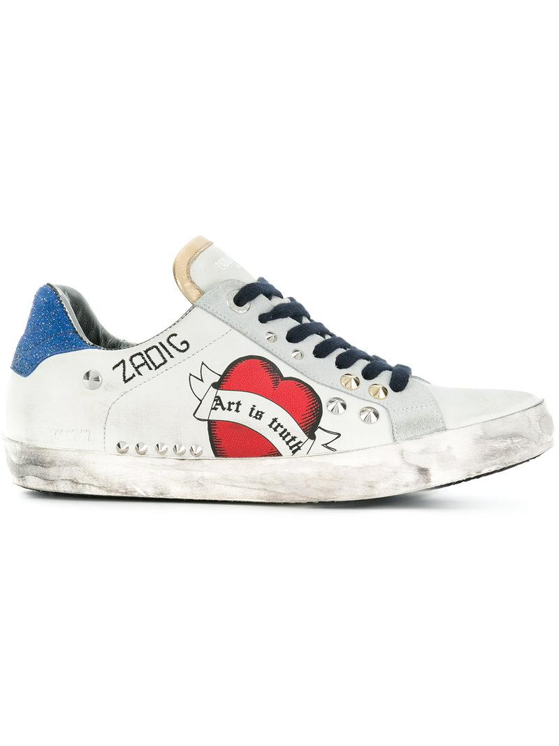 Zadig \u0026 Voltaire Leather Used Sneakers