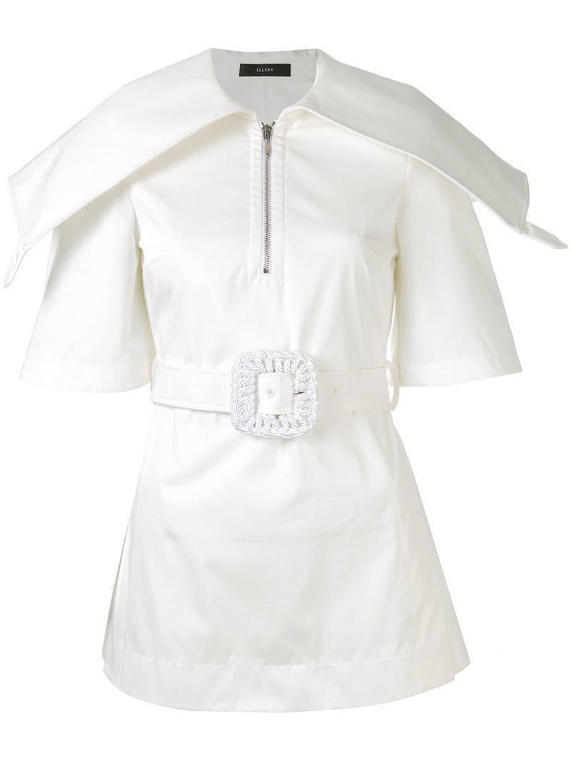 cd779cb82d3 Lyst - Ellery Structured Shoulder Shirt in White
