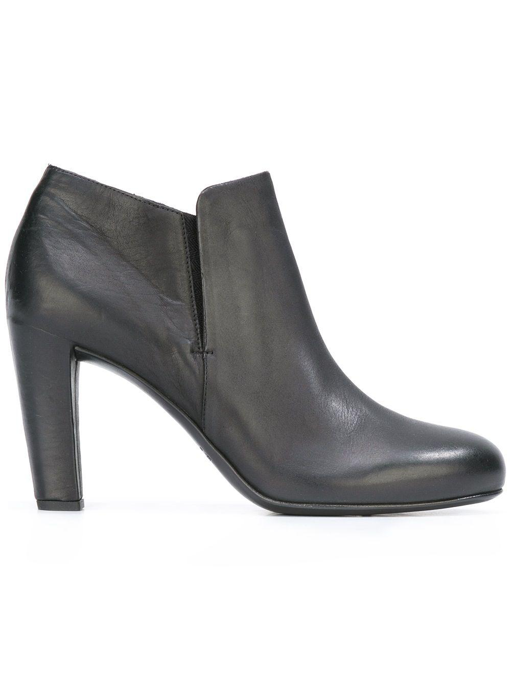 Roberto Del Carlo Leather Ankle Boots in Black (Natural)