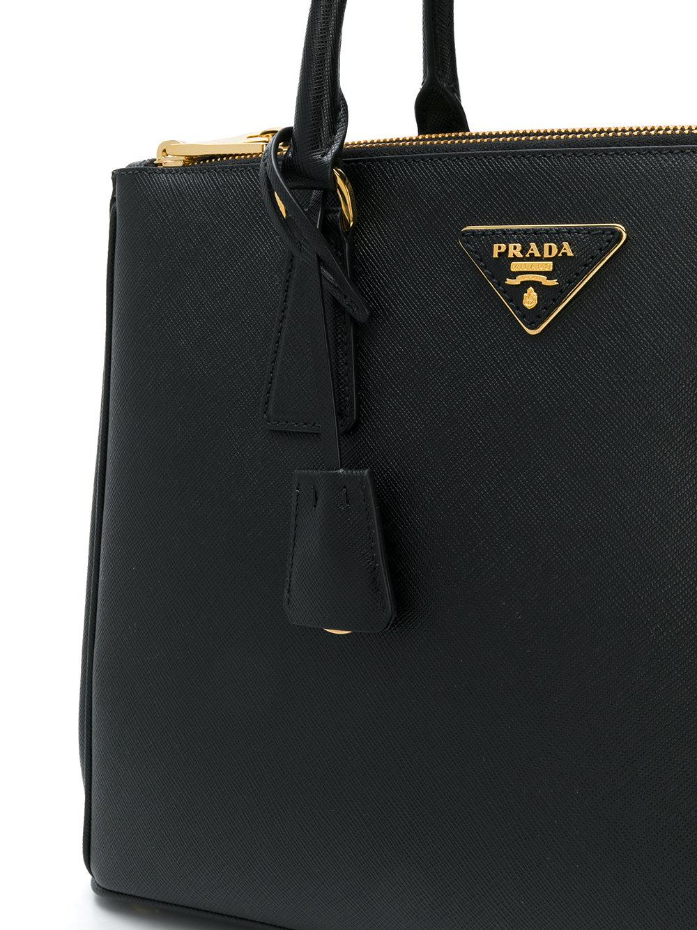 5f0ca8a263d9 where to buy coupon code for lyst prada large galleria tote in black 7b8fb  cbbe5 90345