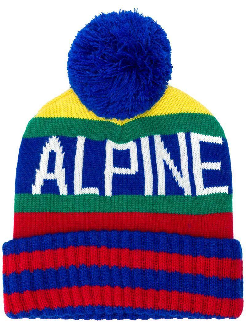 c59eb0424a95 Lyst - Bonnet Alpine Polo Ralph Lauren pour homme en coloris Bleu