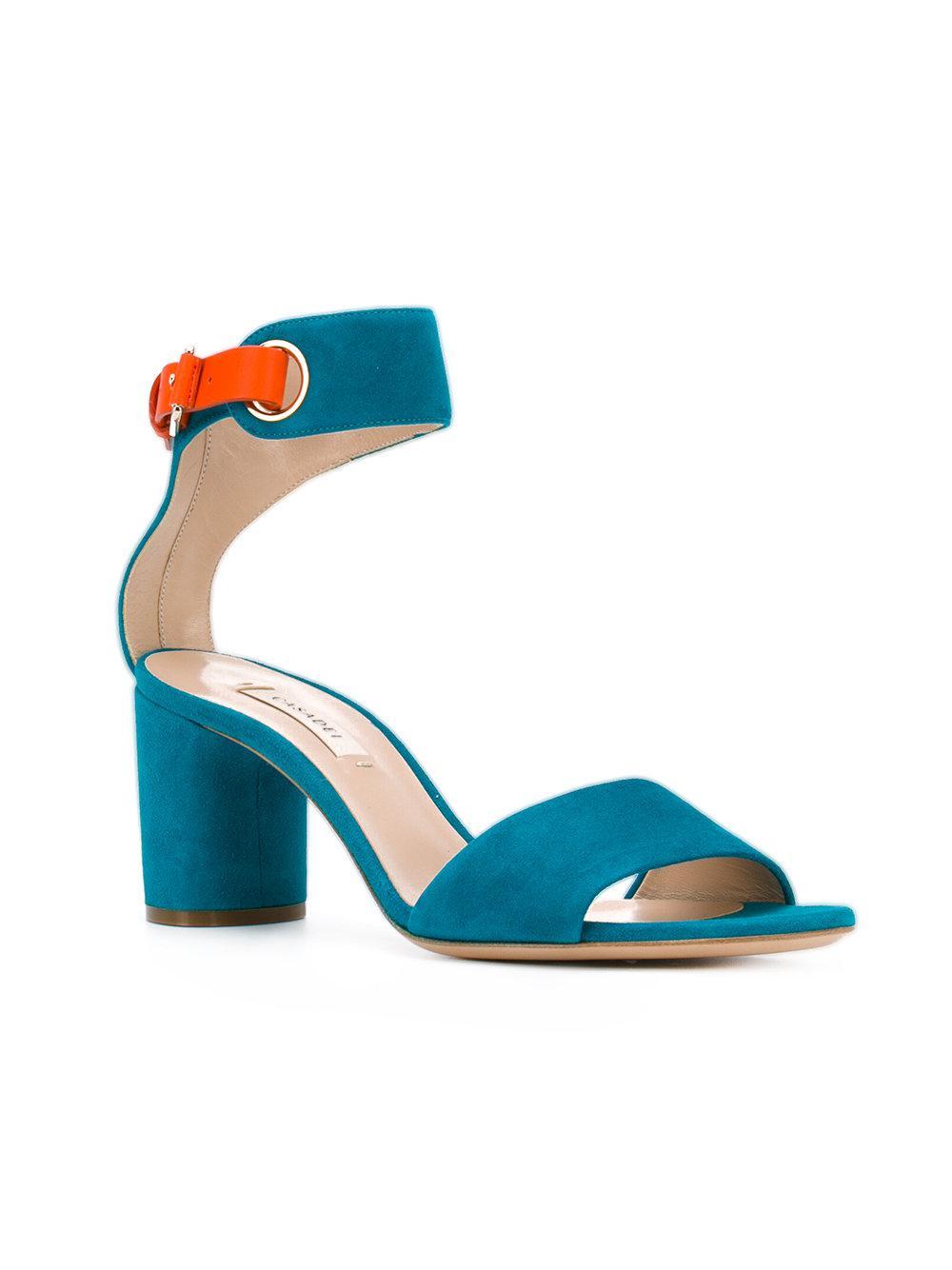 chain block sandals - Blue Casadei 6n27VGcsS