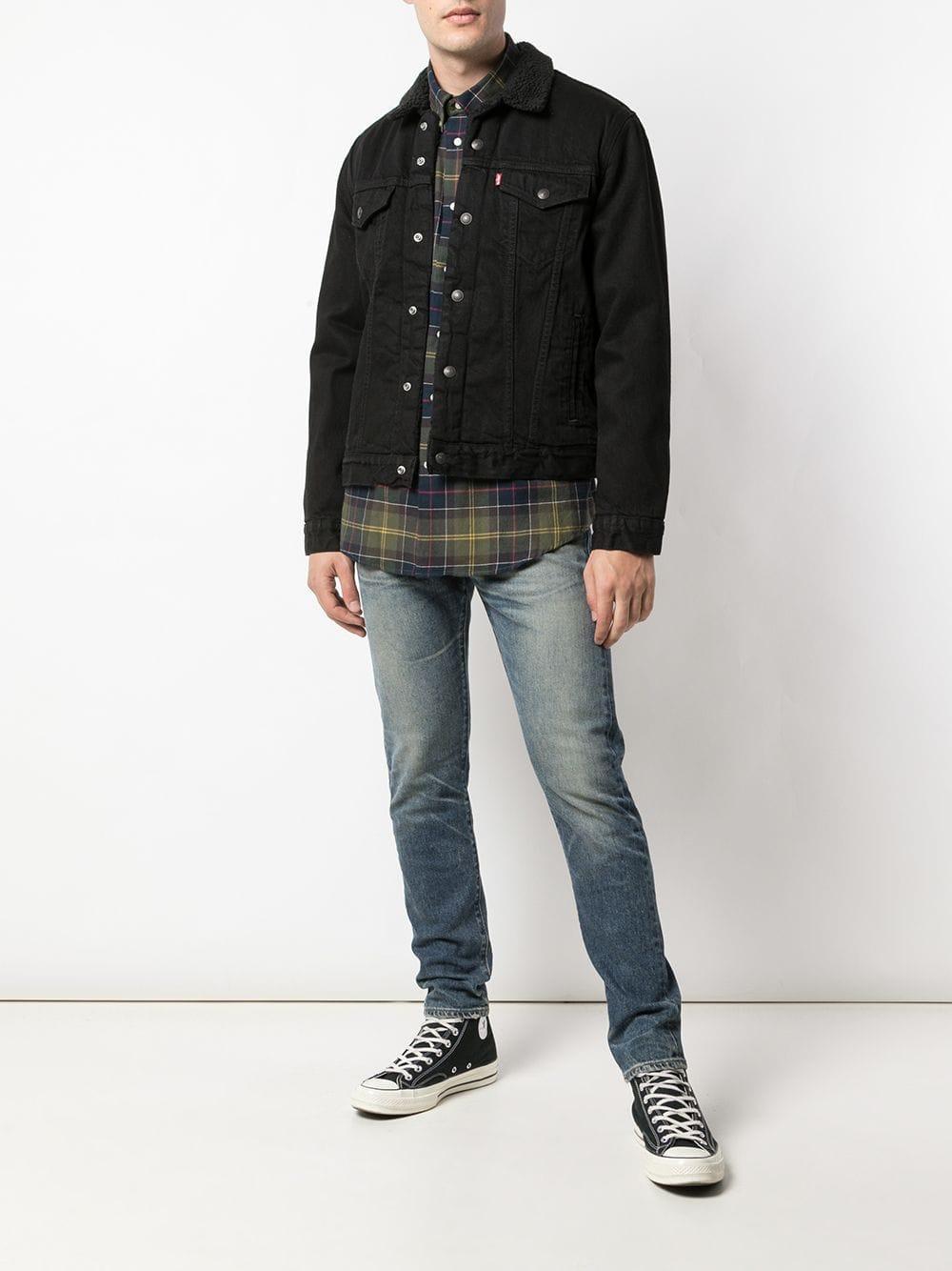 Levi's Denim Jeans Met Toelopende Pijpen in het Blauw voor heren