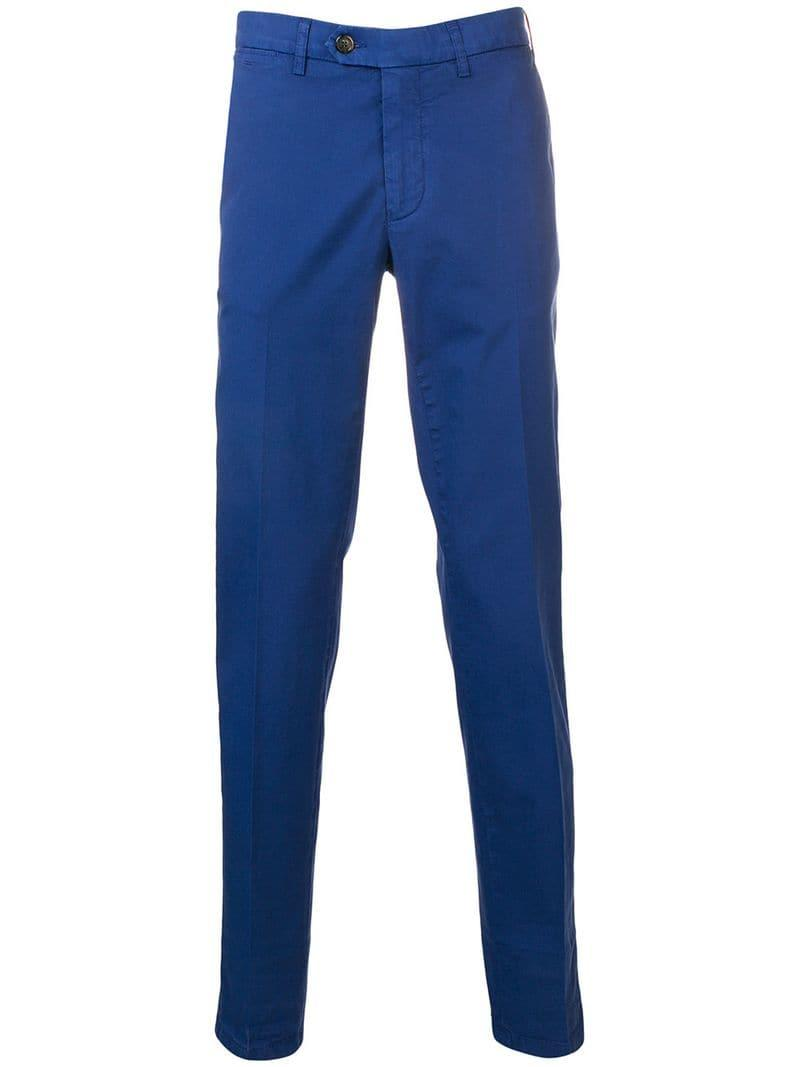 4dba78c47e970 Lyst - Canali Straight-leg Trousers in Blue for Men