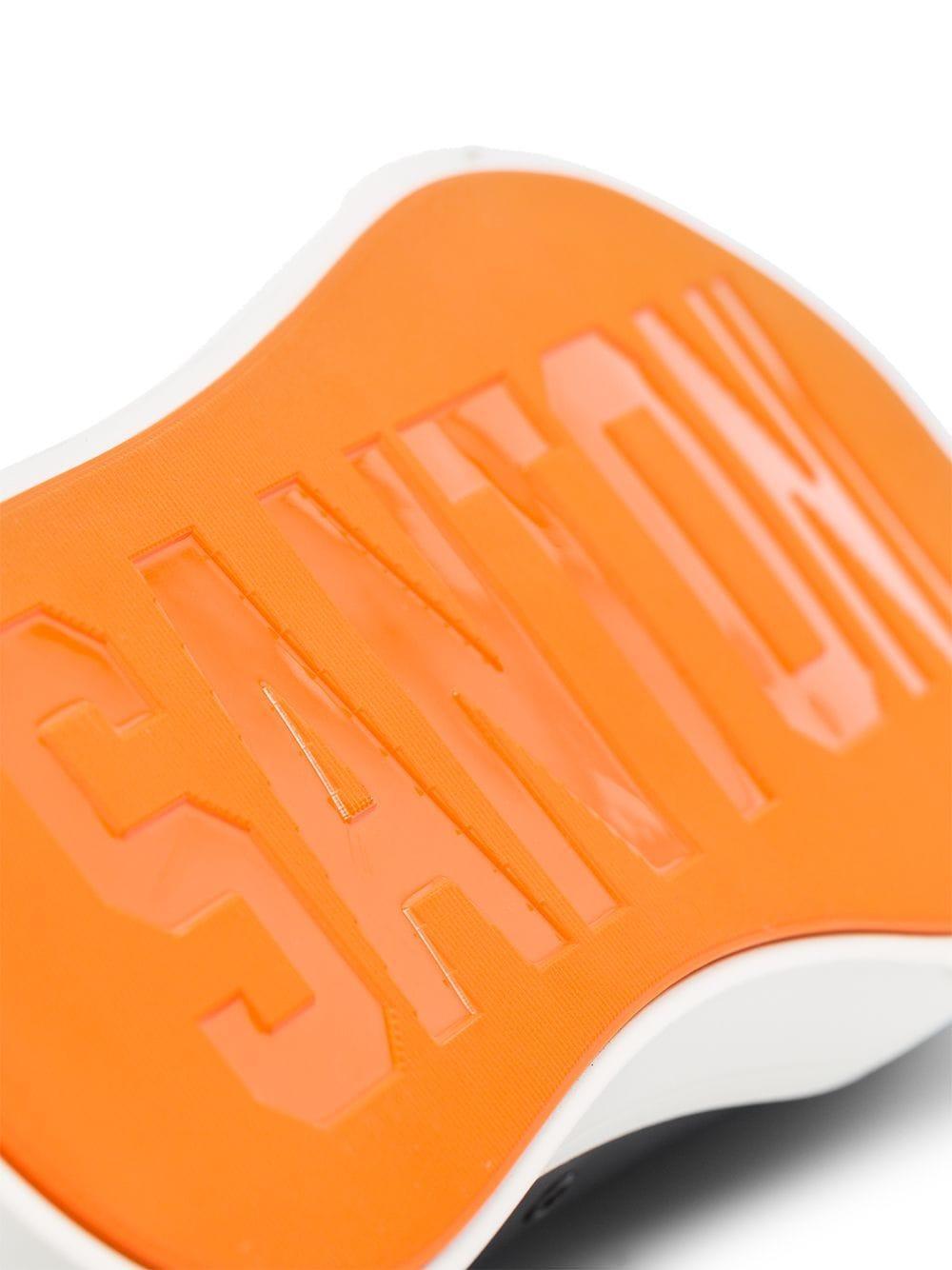 Santoni Leer Leren Sneakers in het Zwart voor heren