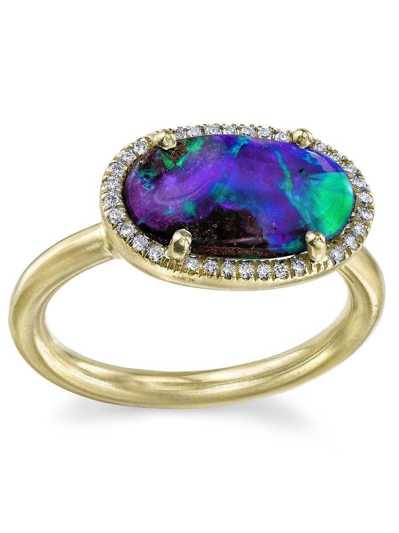 Irene Neuwirth Blue Opal Ring Lyst
