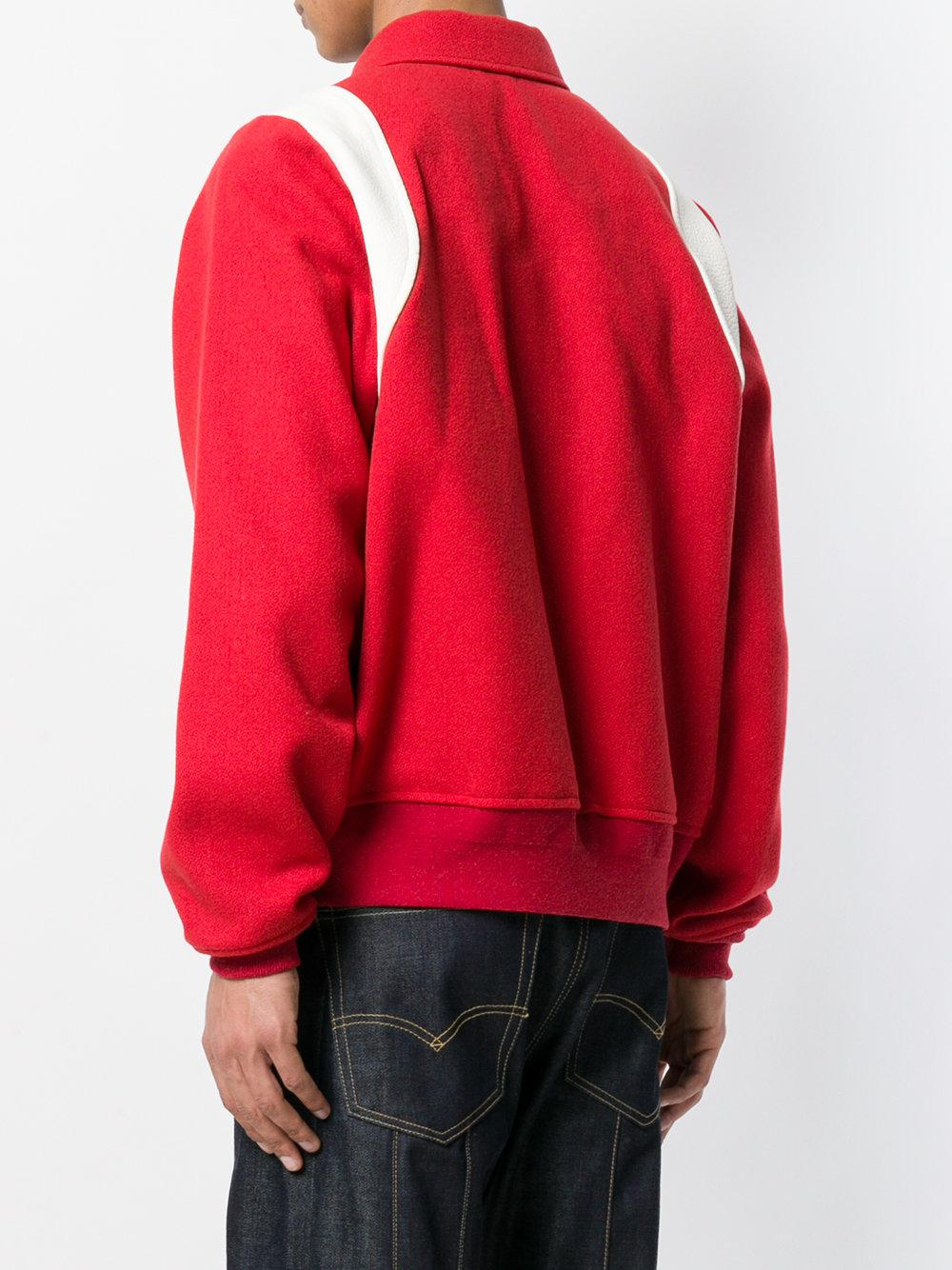 Visvim Wool Zipped Jacket in Red for Men