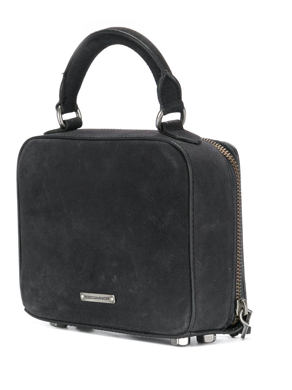 Rebecca Minkoff Leather Embellished Box Cross Body Bag in Black