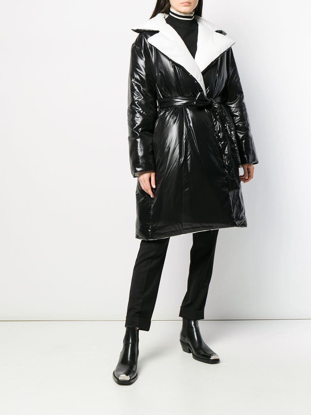 Gabardina acolchada Givenchy de Tejido sintético de color Negro