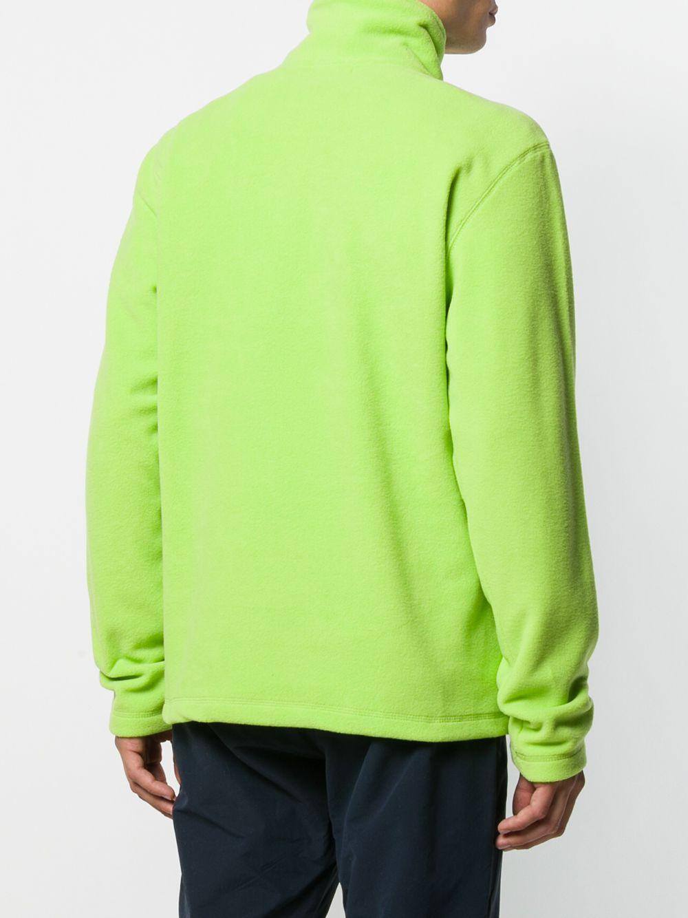 Andrea Crews Fleece Sweater Met Logo in het Groen voor heren