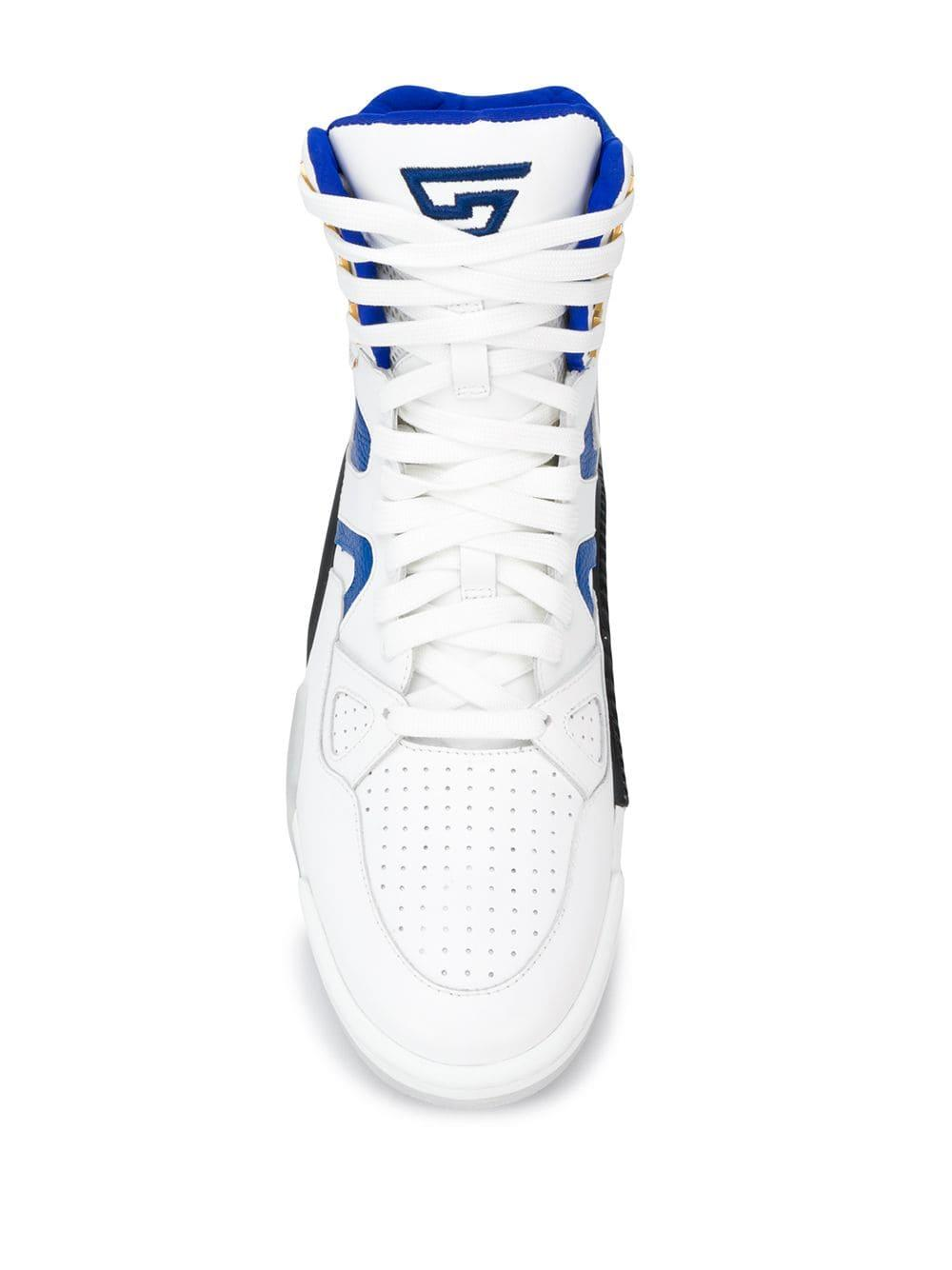 Zapatillas altas Versace de Cuero de color Blanco para hombre