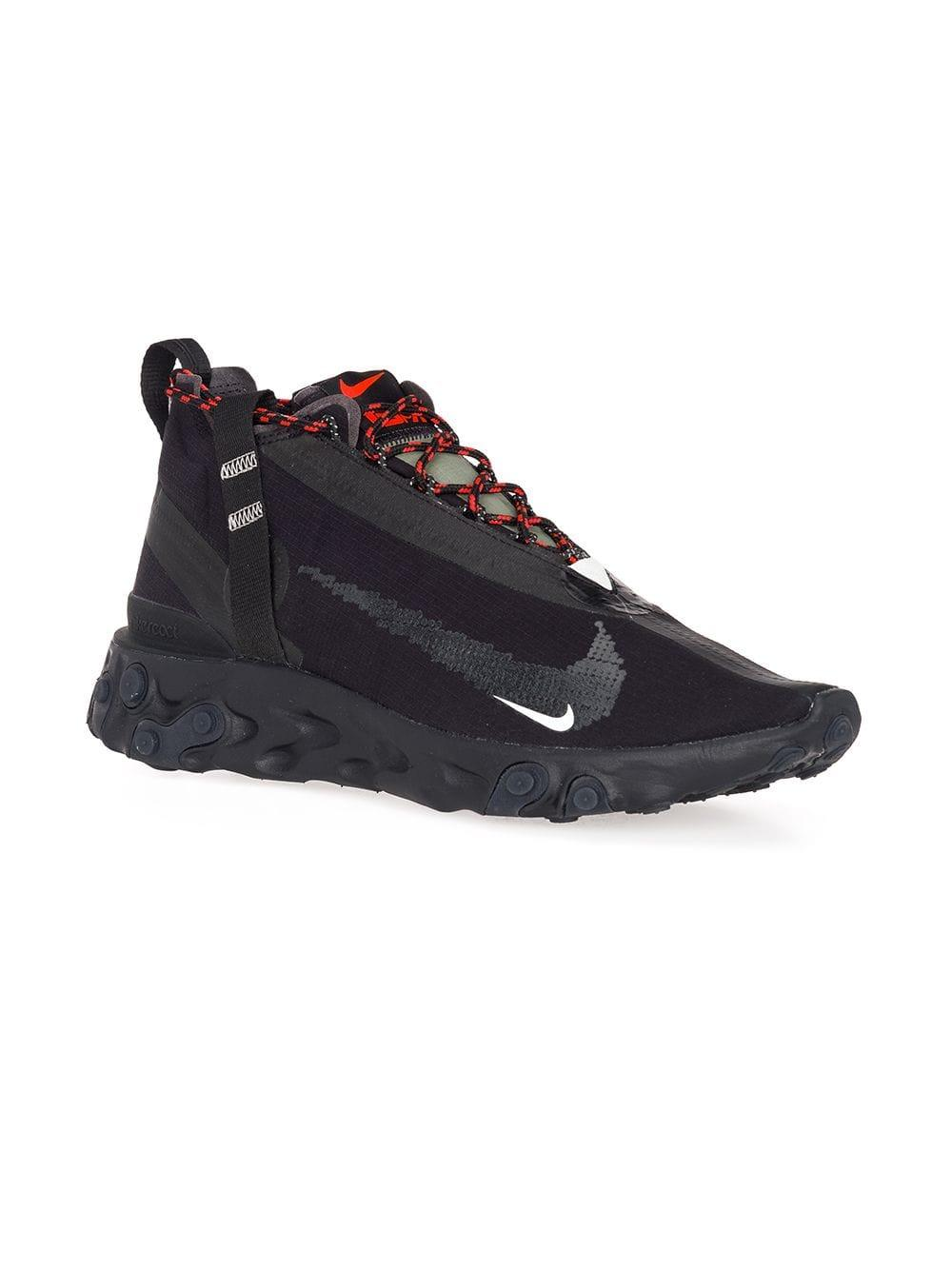 on sale 160f0 ba7ab Nike Black And Red State Emergency React Sneakers in Black for Men - Lyst