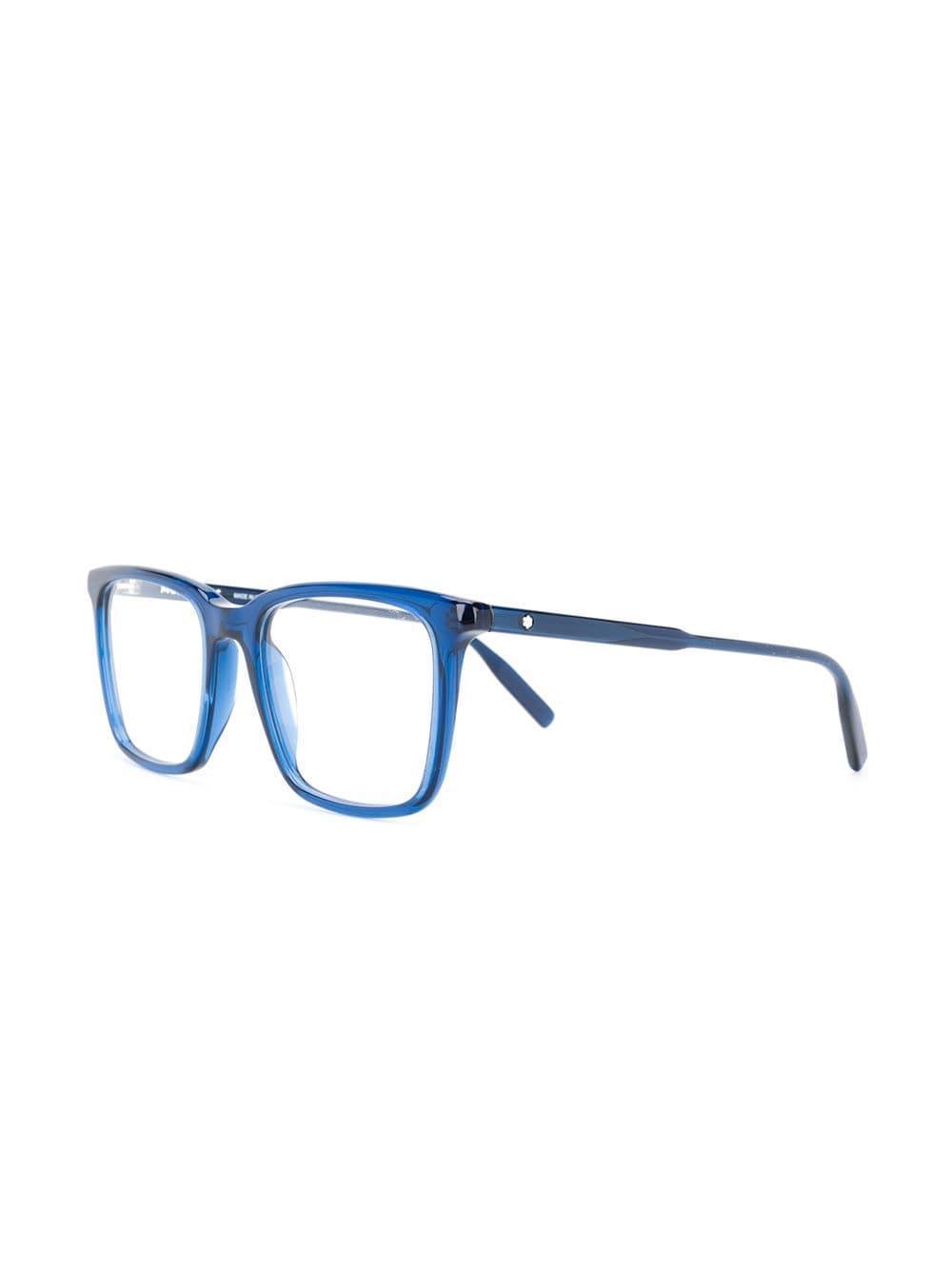 321cddb595 Montblanc - Blue Oversized Square Frame Glasses for Men - Lyst. View  fullscreen