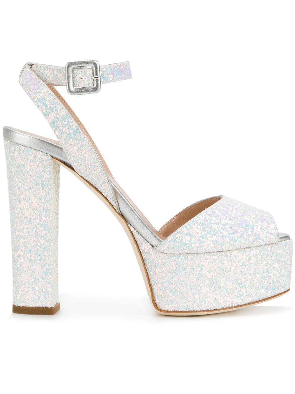 e22d8d771c9 Lyst - Giuseppe Zanotti Betty Glitter Platform Sandals
