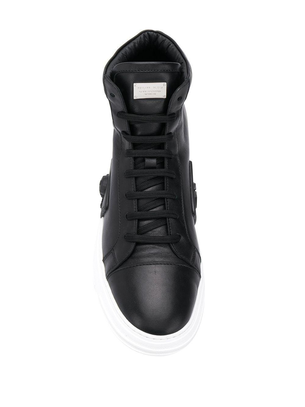 Philipp Plein Sneakers Met Logoplakkaat in het Zwart voor heren