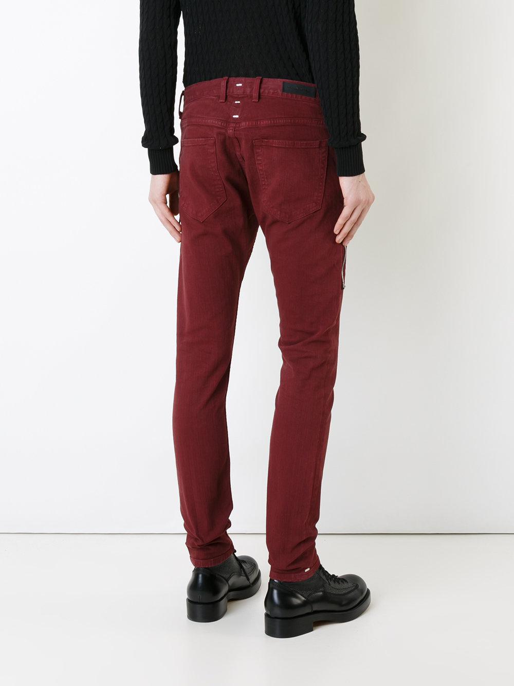 Mr Completely Super Skinny Jeans In Red For Men Lyst