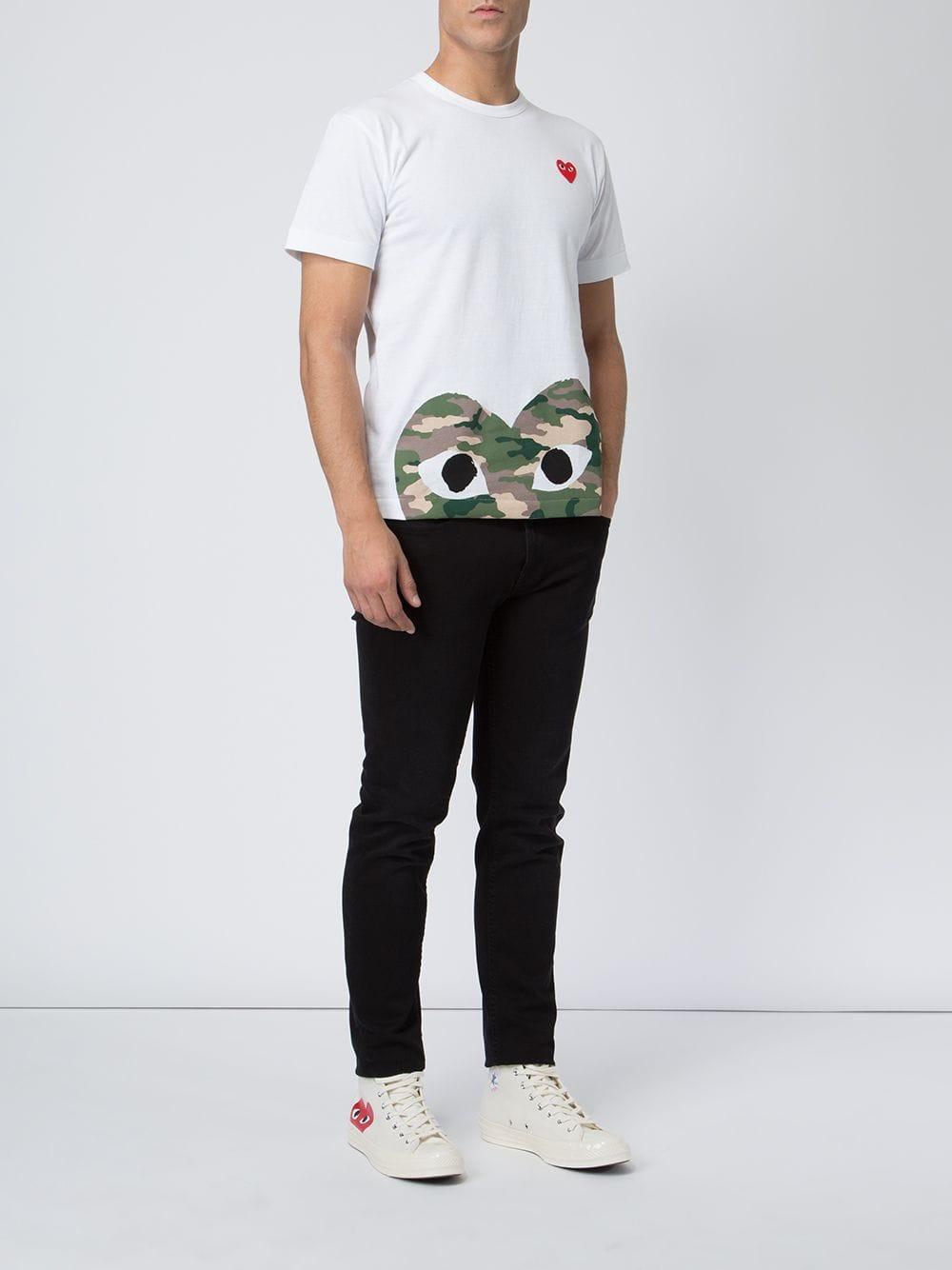 T-shirt con stampa da uomo di colore bianco