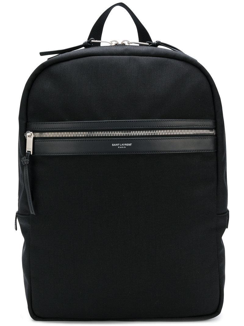 de99f4ec4c0dc Saint Laurent - Black Laptop City Backpack In Canvas for Men - Lyst. View  fullscreen