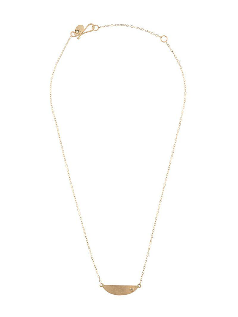 Melissa Joy Manning mini collar necklace with diamond detail Low Shipping Fee Online y2eMQDl2