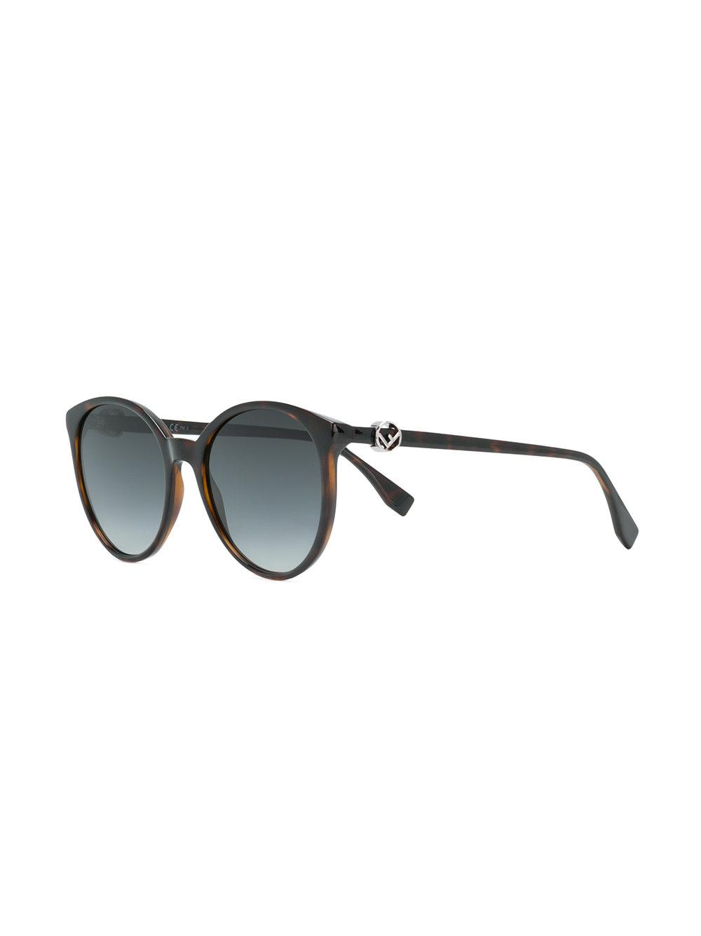 Fendi Gradient Round Sunglasses in Brown