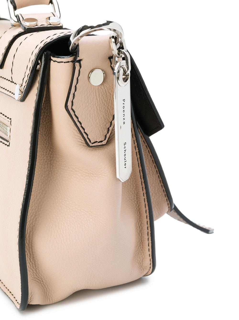 Proenza Schouler Leather Ps1 Tiny Crossbody Bag in Natural