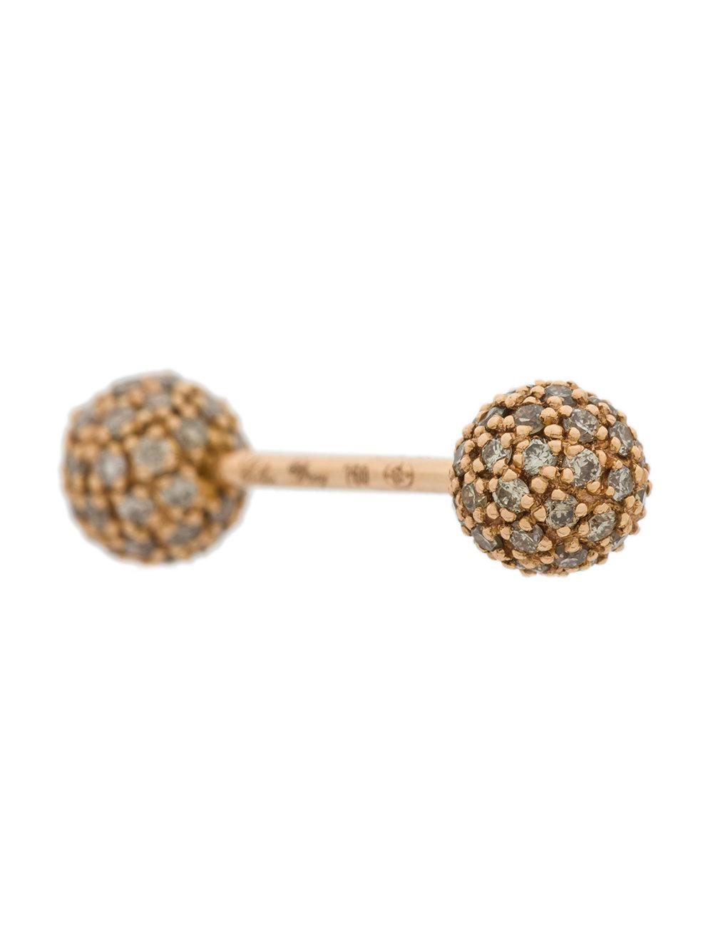 Elise Dray embellished bar stud earring - Metallic pcwIn