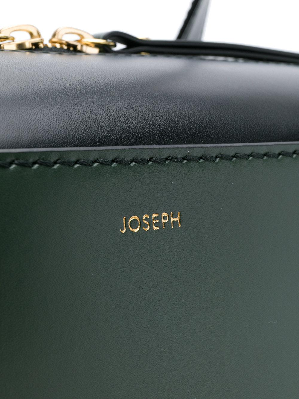 JOSEPH Leather Ryder Tote in Green
