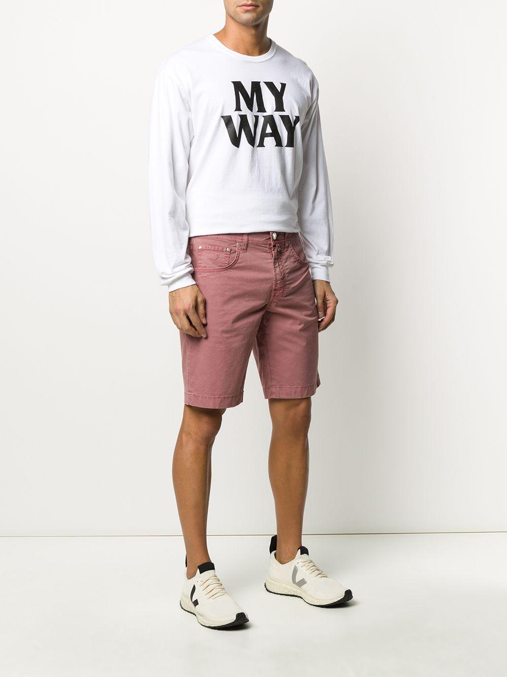Jacob Cohen Denim Shorts in het Roze voor heren