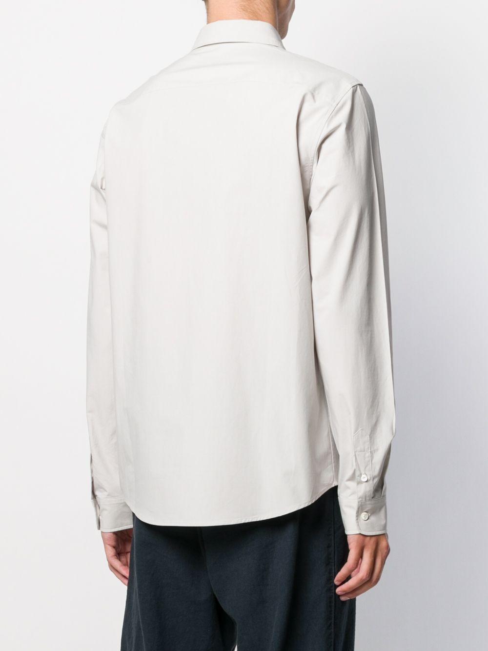 A.P.C. Katoen Getailleerd Overhemd in het Grijs voor heren