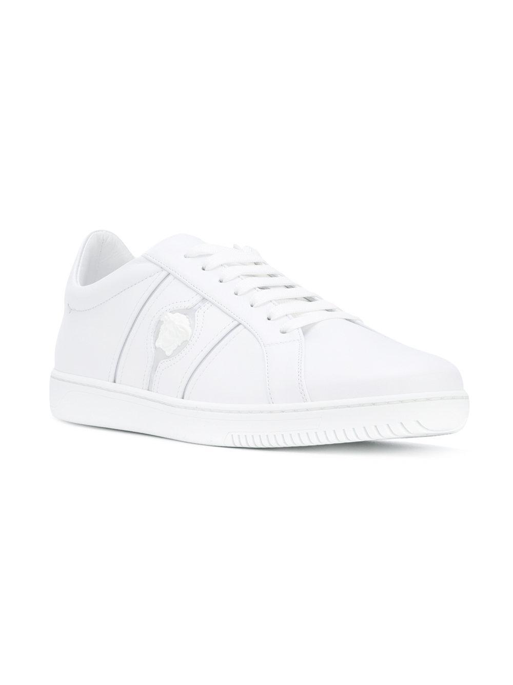 Versace Baskets À Lacets - Blanc zYogl