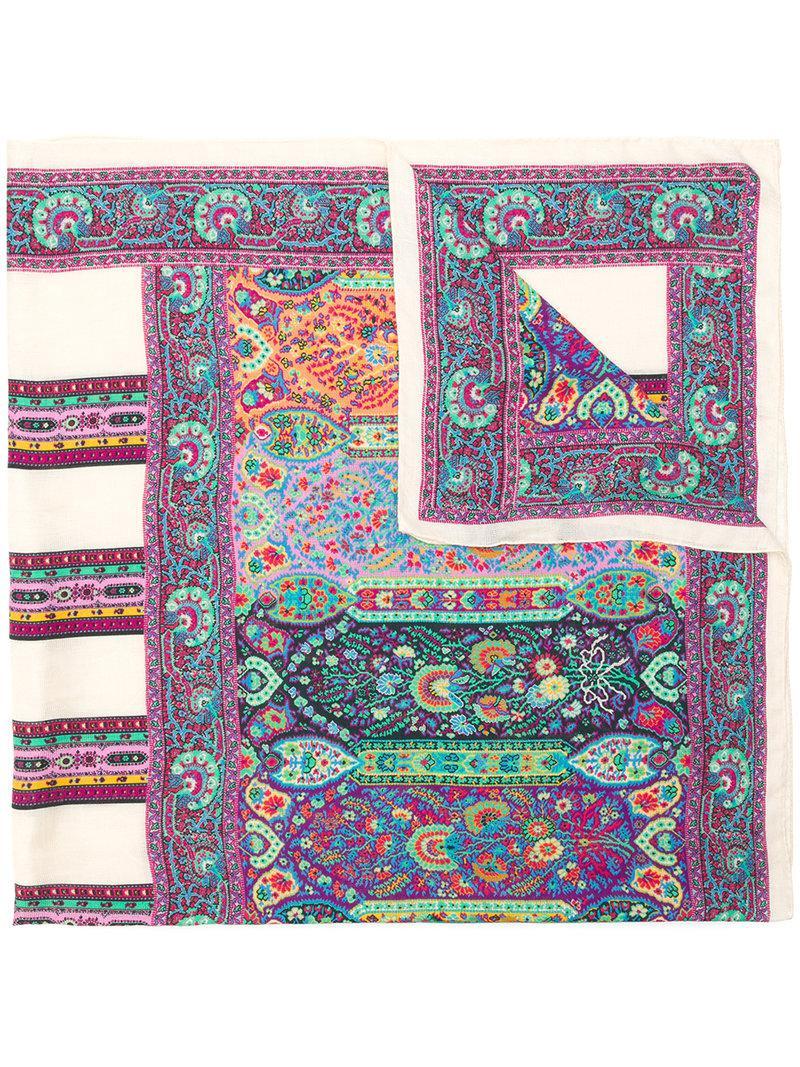 Etro micro print scarf Shopping Online Sale Sast gNt9otW3CA