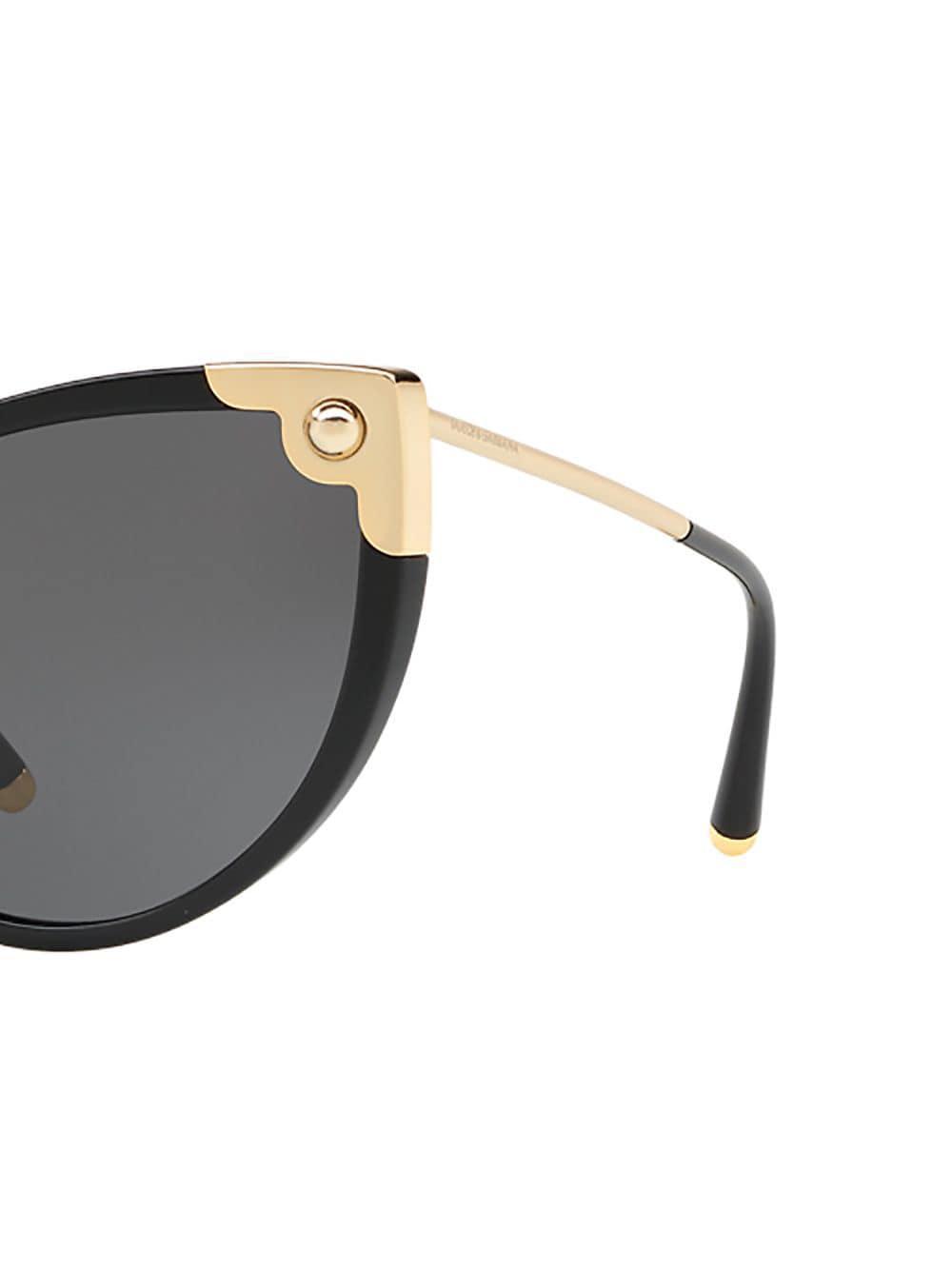 Lunettes de soleil à monture papillon Dolce & Gabbana en coloris Noir sQ4y