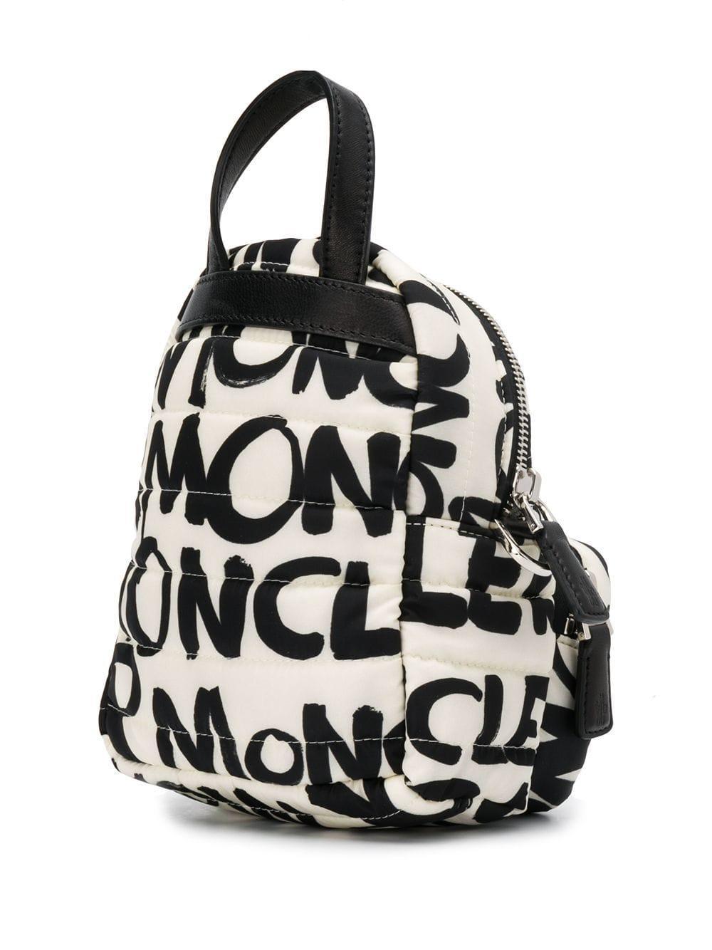 066c96a0c Moncler Georgine Logo Print Crossbody Bag in Black - Lyst