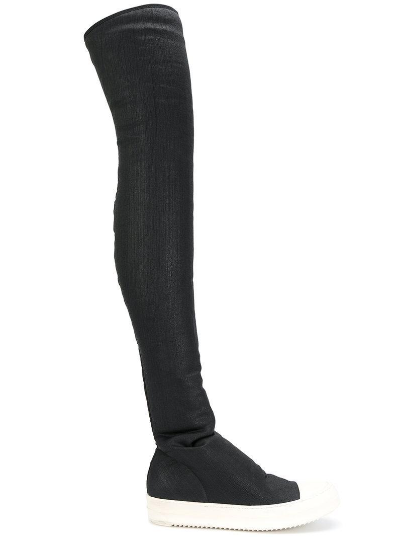 MM6 Maison Martin Margiela Black Casati Pearl Over-the-Knee Boots