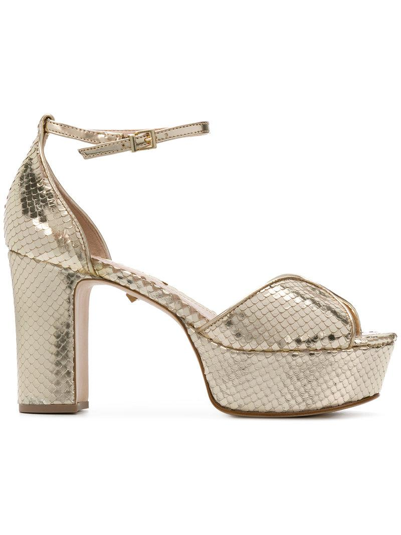 Schutz embossed platform sandals buy cheap pay with paypal SVUwx