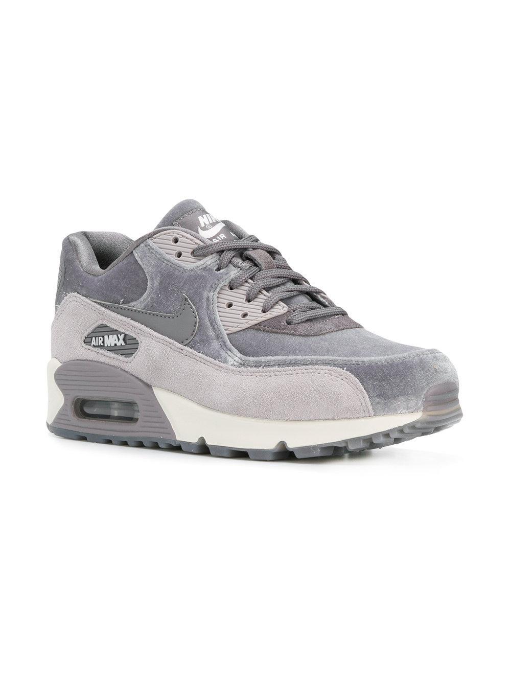 Nike Suede Air Max 90 Lx Sneakers in Grey (Grey)