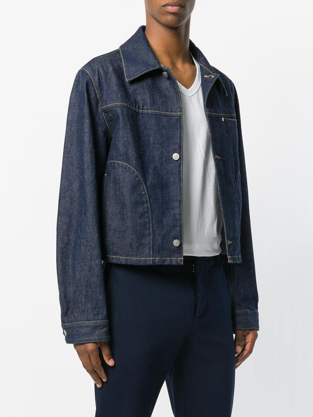 Maison Margiela Fitted Denim Jacket in Blue for Men