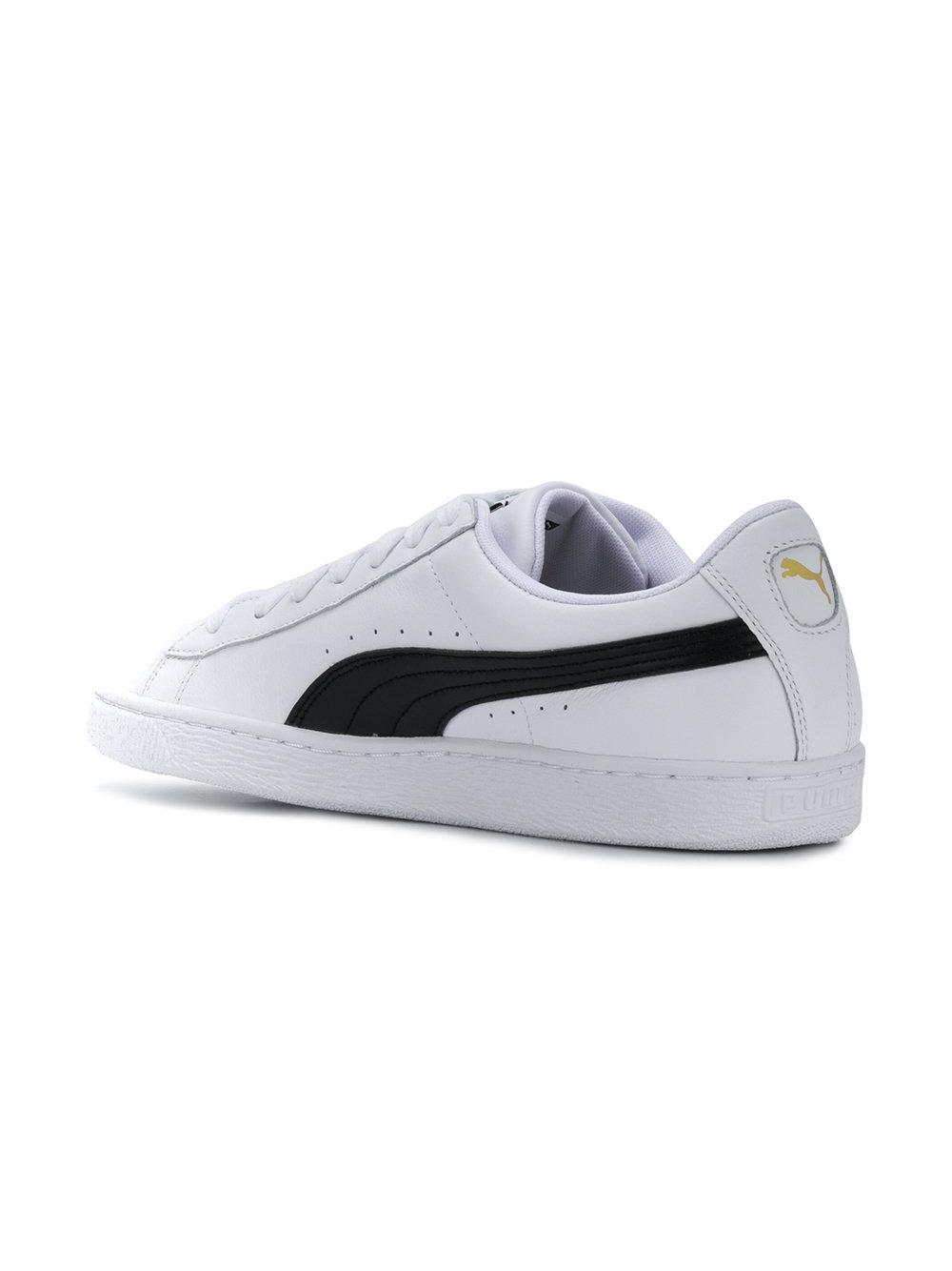 super popular 05861 2e508 PUMA Leather Heritage Basket Classic Sneakers in White for ...