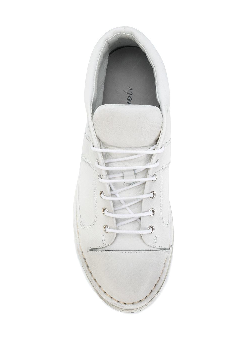 Marsèll Leather Distressed Sole Sneakers in White