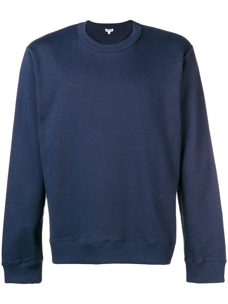 688599db1307 KENZO Logo Back Sweatshirt in Blue for Men - Lyst