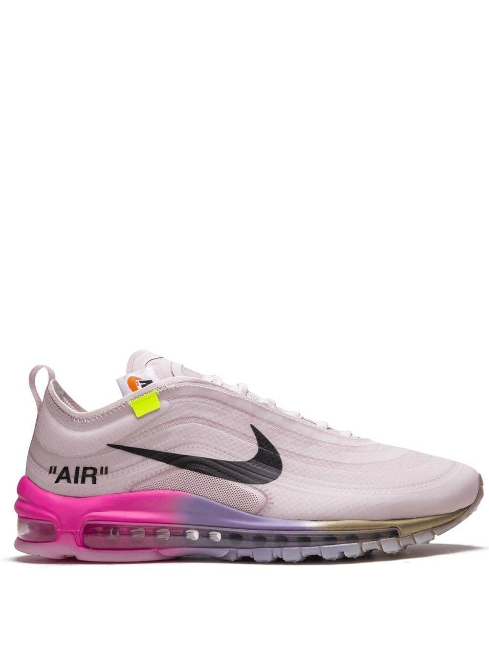 NIKE X OFF-WHITE Rubber The 10th: Air Max 97 Og Sneakers in Pink ...