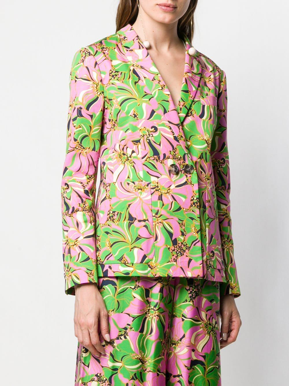 Blazer à fleurs et boutonnière croisée Coton LaDoubleJ en coloris Rose