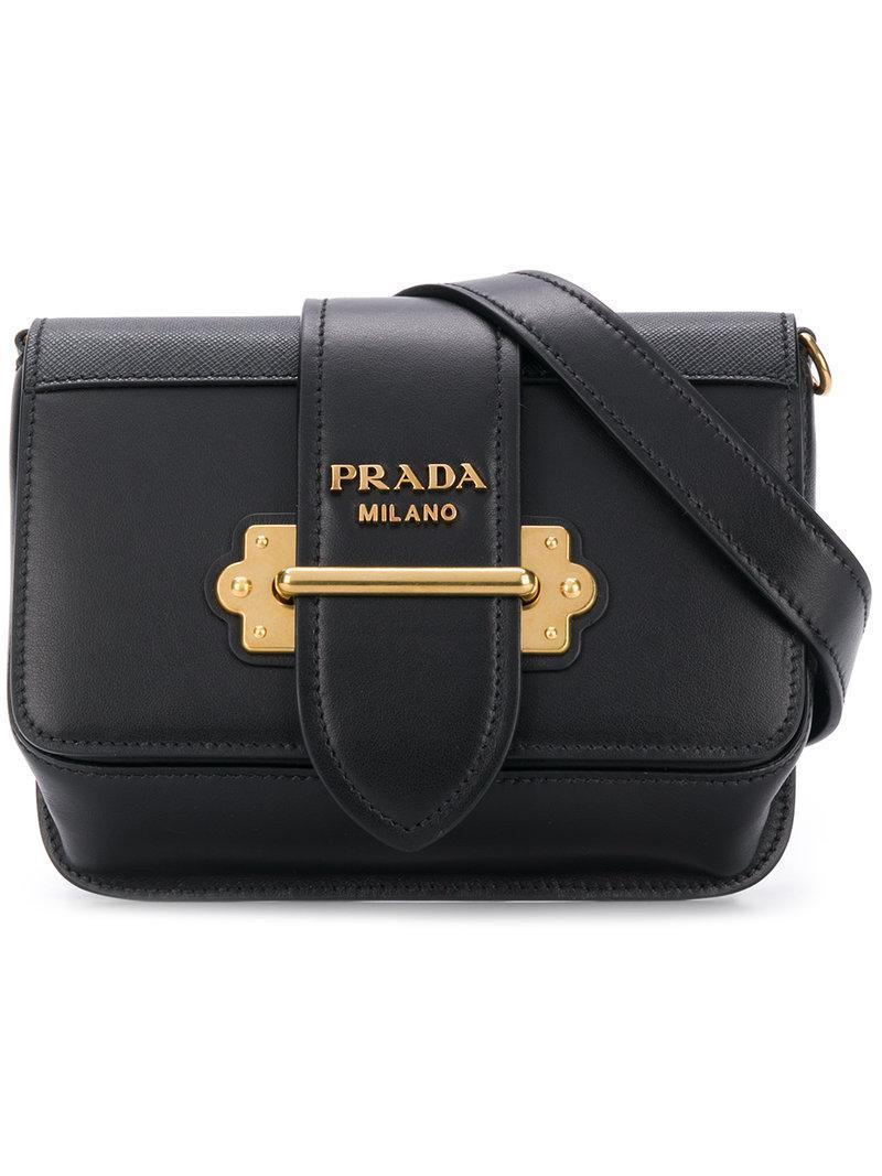 a2aa1619855e Prada Classic Logo Belt Bag in Black - Lyst