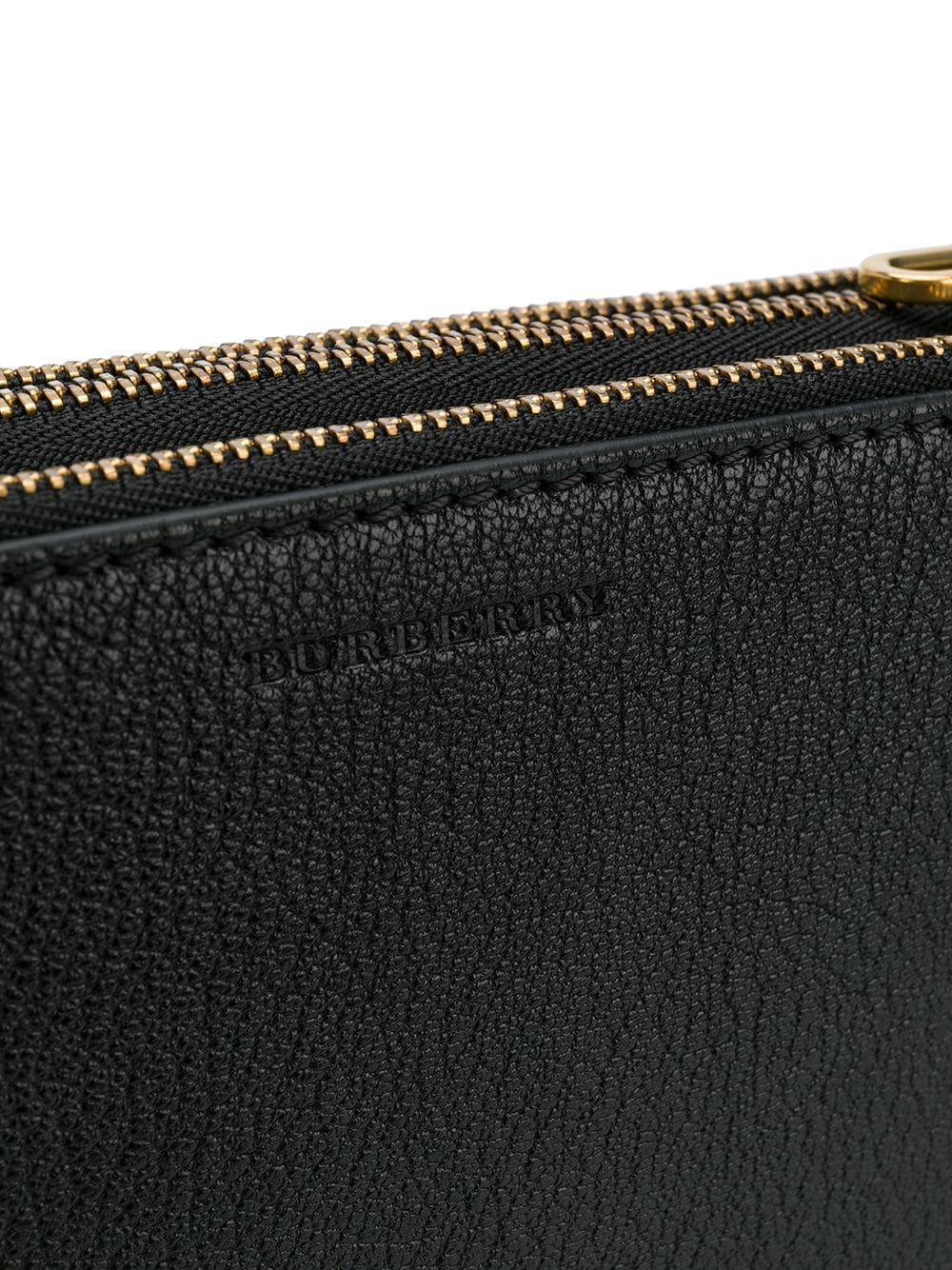 Burberry Leather 'trinity' Crossbody Bag in Black