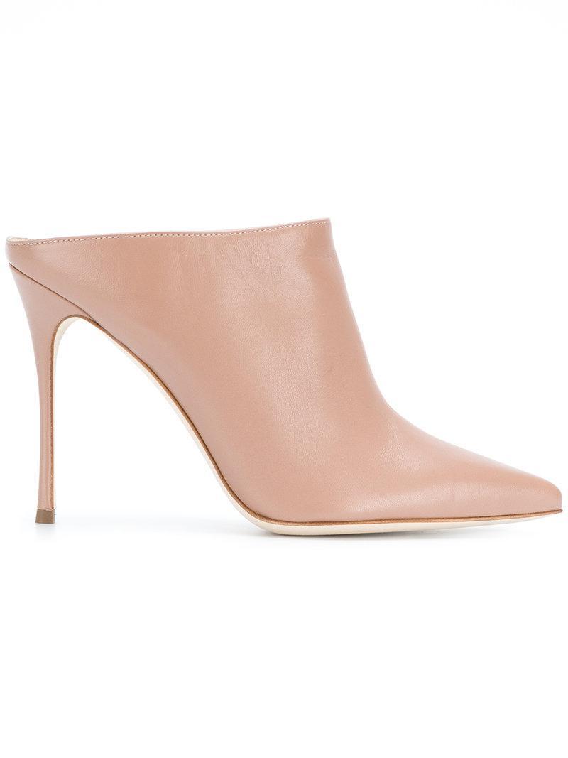 Moda En Línea Barata Para La Venta En Línea Barata Sergio Rossi Mules 'Godiva' - Pink & Purple farfetch beige l8Z5y
