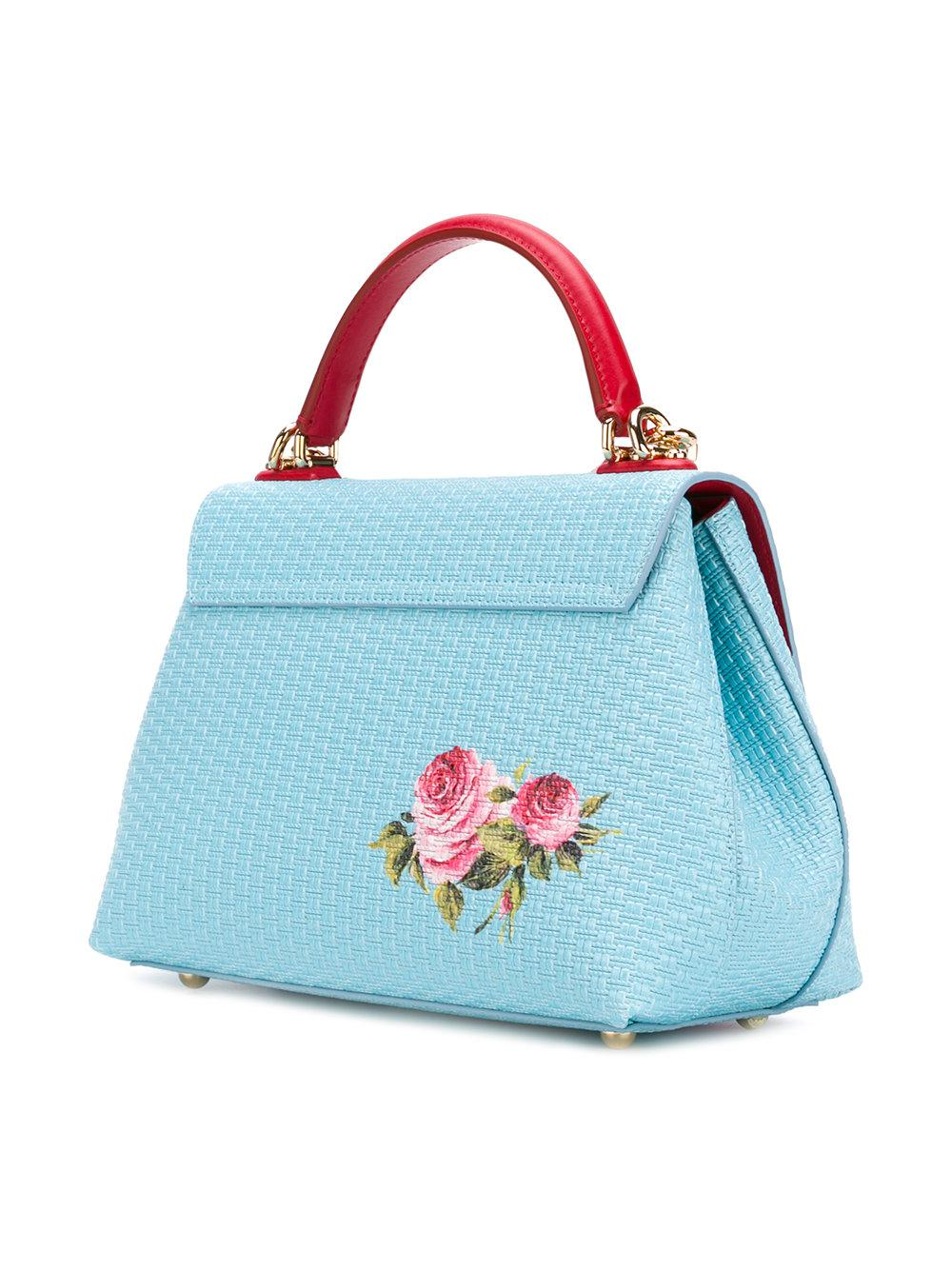 Dolce & Gabbana Leather Lucia Tote in Blue